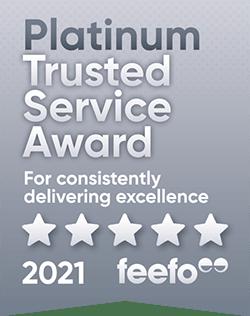 Feefo Platinum Trusted Service Award 2021